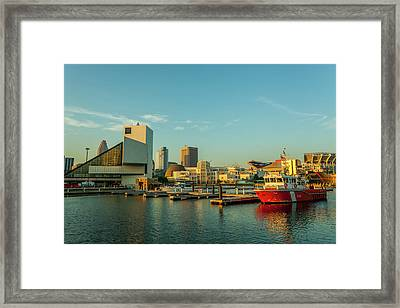 Cleveland Skyline Framed Print by Richard Nowitz