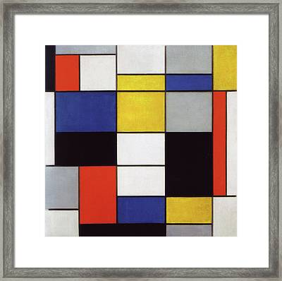 Composition A Framed Print by Piet Mondrian