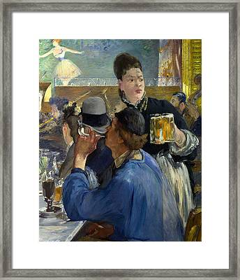 Corner Of A Cafe Concert Framed Print by Edouard Manet