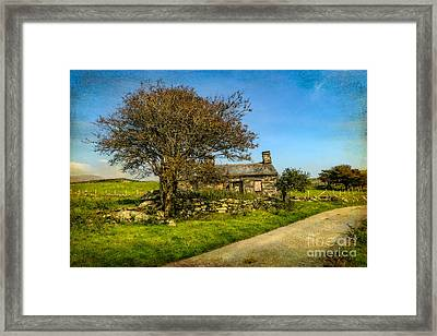 Cottage Ruin Framed Print by Adrian Evans