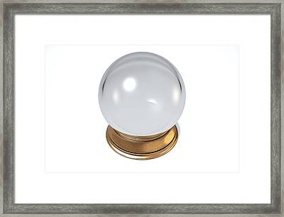 Crystal Ball Framed Print by Allan Swart