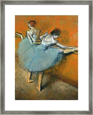 Dancers At The Barre Framed Print by Edgar Degas