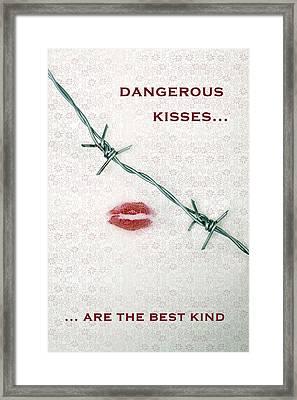Dangerous Kisses Framed Print by Joana Kruse
