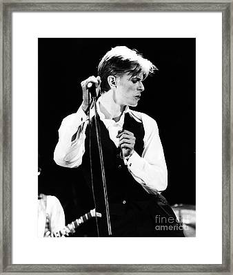David Bowie 1976 #2 Framed Print by Chris Walter