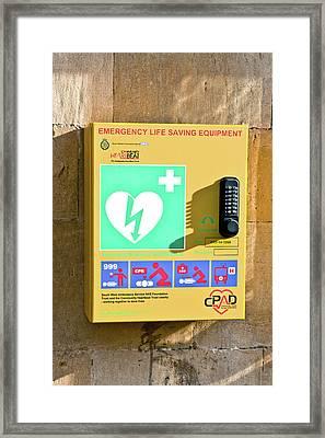 Defibrillator Station Framed Print by Tom Gowanlock