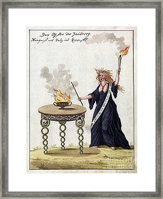 Demonology, 18th Century Framed Print by Wellcome Images