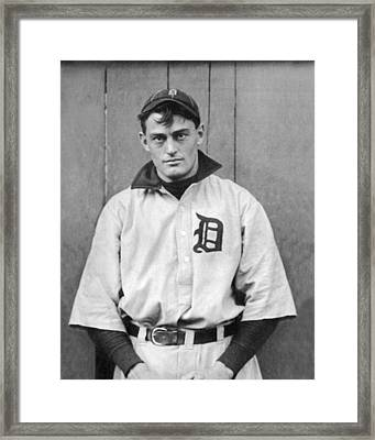 Detroit Tigers Catcher Framed Print by Underwood Archives