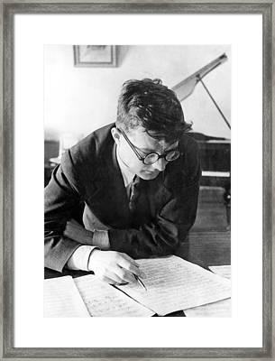Dimitri Shostakovich,  Russian Composer Framed Print by Everett
