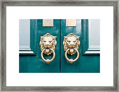 Door Handles Framed Print by Tom Gowanlock
