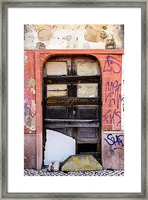 Door With No Number Framed Print by Marco Oliveira