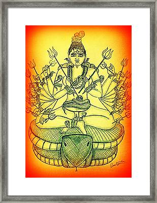 Durga Framed Print by Pratyasha Nithin
