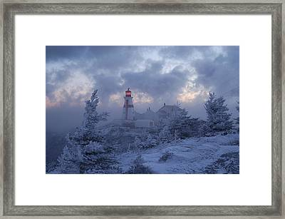 East Quoddy Lighthouse 36 Below Framed Print by Don Dunbar