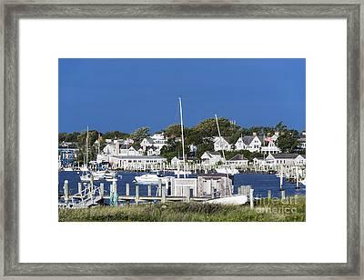 Edgartown Harbor Framed Print by John Greim