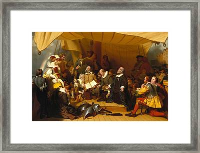 Embarkation Of The Pilgrims Framed Print by Robert Walter Weir