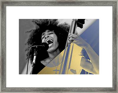 Esperanza Spalding Collection Framed Print by Marvin Blaine