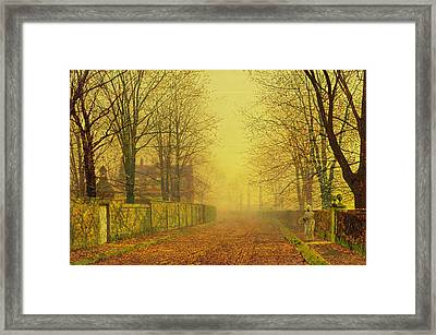 Evening Glow Framed Print by John Atkinson Grimshaw
