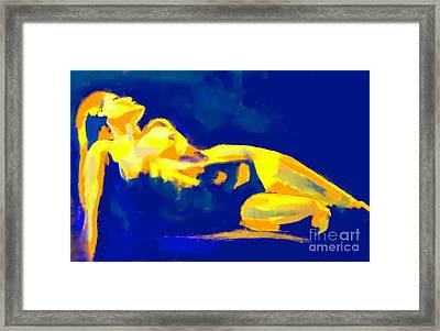 Evening Nude Framed Print by Helena Wierzbicki