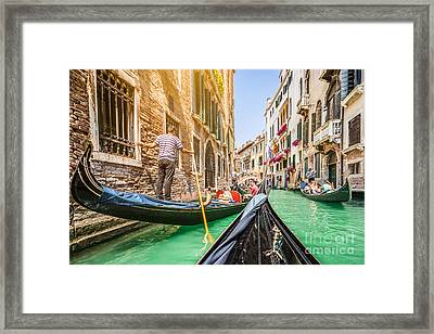 Exploring Venice Framed Print by JR Photography