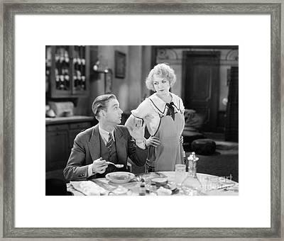 Film Still: Eating & Drinking Framed Print by Granger