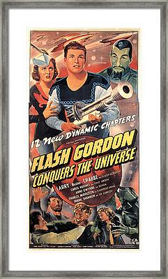 Flash Gordon Conquers The Universe Framed Print by Everett