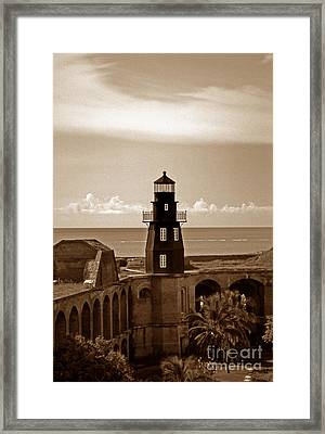 Fort Jefferson Lighthouse Framed Print by Skip Willits