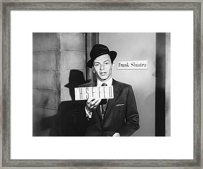 Frank Sinatra Framed Print by Underwood Archives
