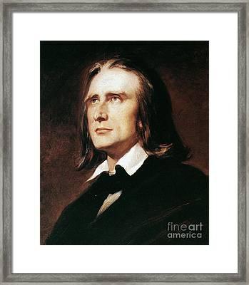 Franz Liszt (1811-1886) Framed Print by Granger