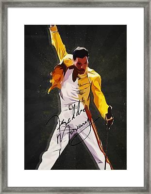 Freddie Mercury Framed Print by Semih Yurdabak