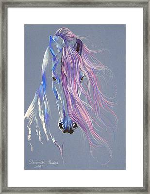 Fresian Stallion Framed Print by Paulina Stasikowska