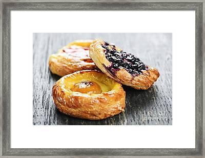 Fruit Danishes Framed Print by Elena Elisseeva