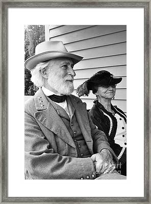 General Lee And Mary Custis Lee Framed Print by Thomas R Fletcher