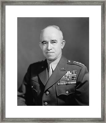 General Omar Bradley  Framed Print by War Is Hell Store