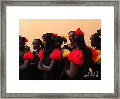Goree Girls Framed Print by Fania Simon