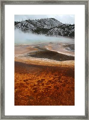Grand Prismatic Pool In Yellowstone National Park Framed Print by Pierre Leclerc Photography