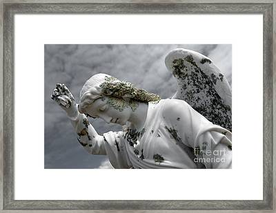 Grieving Angel Framed Print by Yurix Sardinelly