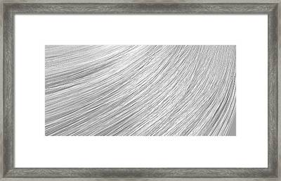 Hair Blowing Closeup Framed Print by Allan Swart