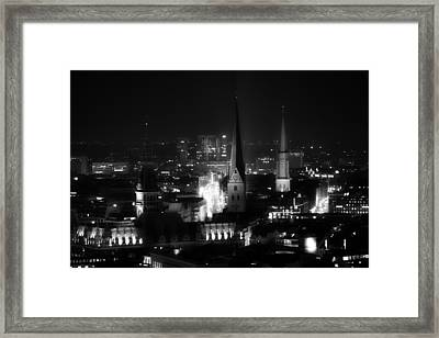 Hamburg City Lights Framed Print by Mountain Dreams