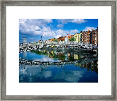 Hapenny Bridge, River Liffey, Dublin Framed Print by The Irish Image Collection
