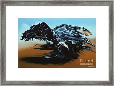 2 Heads Eagle Framed Print by Christian Simonian