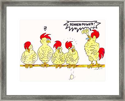 Hennenpower Framed Print by Michaela Bautz