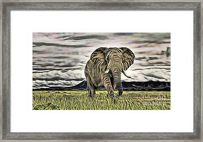 Hi Framed Print by Marvin Blaine