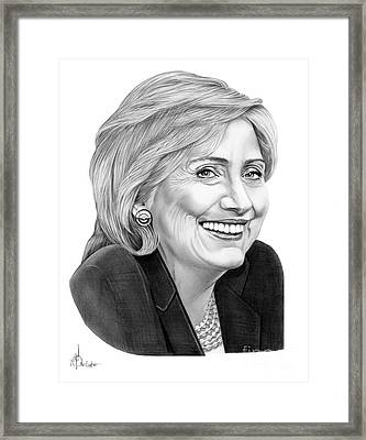 Hillary Clinton Framed Print by Murphy Elliott