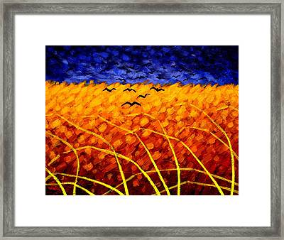 Homage To Van Gogh Framed Print by John  Nolan