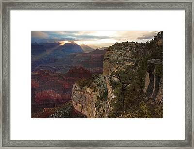 Hopi Point Sunrise Framed Print by Mike Buchheit