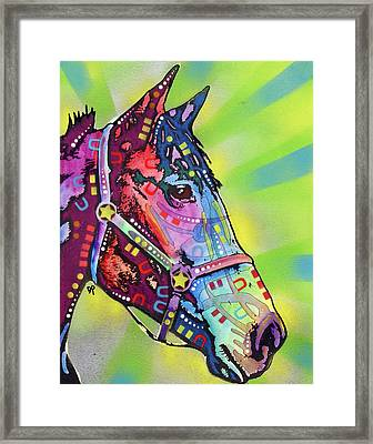 Horse Framed Print by Dean Russo