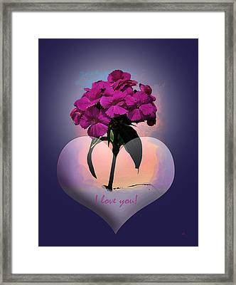 I Love You Framed Print by Gerlinde Keating - Galleria GK Keating Associates Inc
