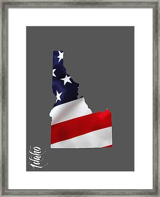 Idaho State Map Collection Framed Print by Marvin Blaine