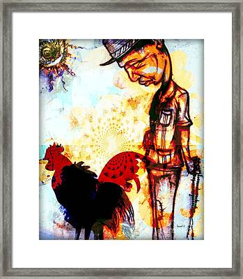 Interpretation Of Something I Saw In Dakar Framed Print by Fania Simon