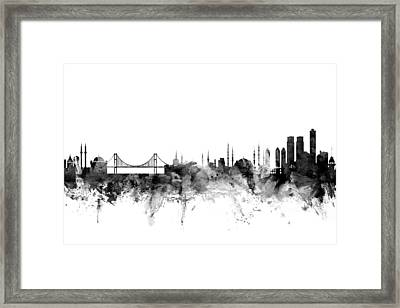Istanbul Turkey Skyline Framed Print by Michael Tompsett
