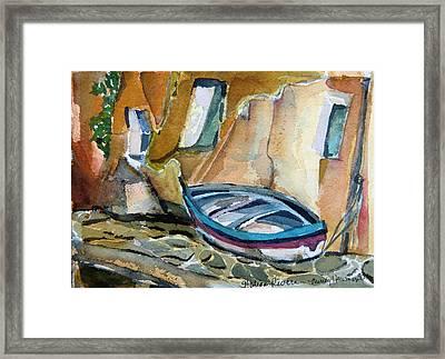 Italian Riviera Framed Print by Mindy Newman